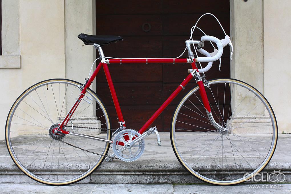 Cima Portule, Campagnolo due leve, restauro bici d'epoca
