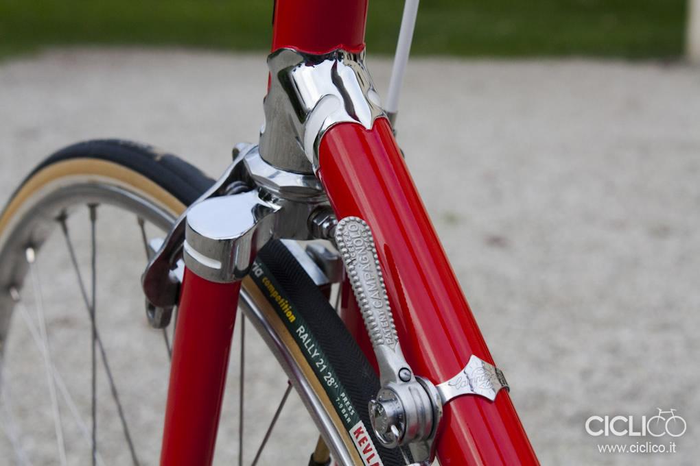 passacavo Campagnolo, Cicli Rolard, Cima Portule, Campagnolo due leve, restauro bici d'epoca