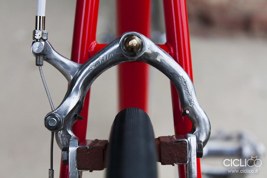 passacavo Campagnolo, Cicli Rolard, Cima Portule, Campagnolo due leve, restauro bici d'epoca, freni Balilla