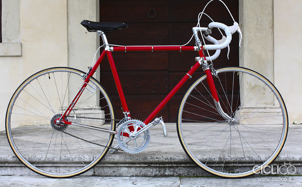Cicli Rolard, Campagnolo due leve, restauro bici da corsa d'epoca