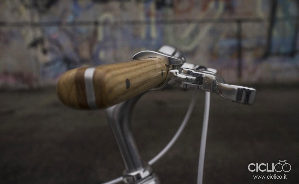 Maubrio in legno, Officine Milani firenze, leve freno Dia Compe Gold Finger