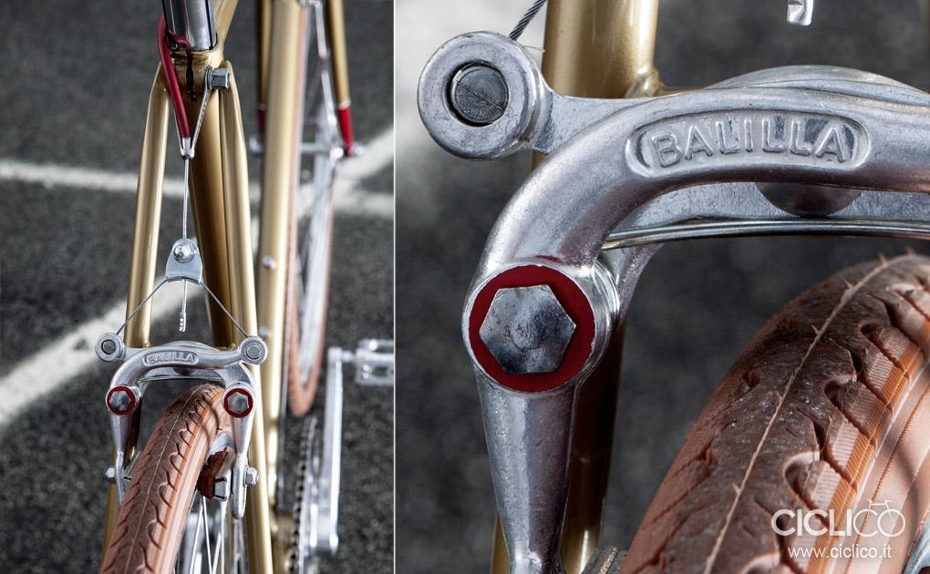 ciclico, urban bikes, singlespeed, freni Balilla a tiraggio centrale, Balilla center pull brakes,