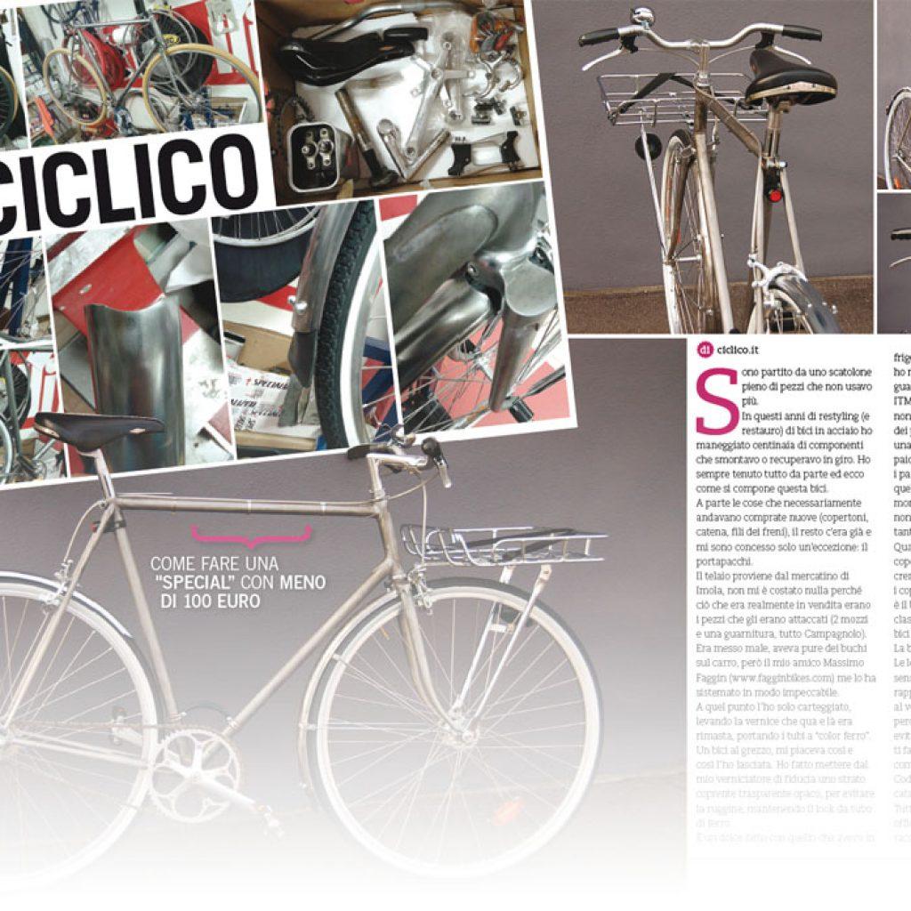 biciclette d'epoca n. 18 del 2016, riciclo, ciclico, singlespeed, steel horse