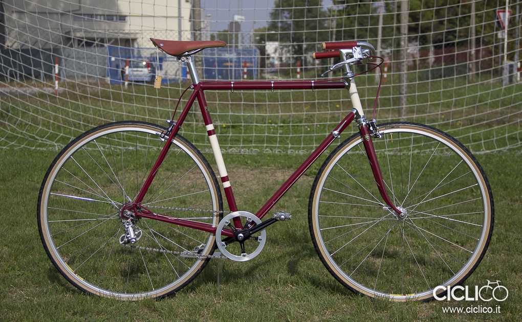 singlespeed, urban bike, campagnolo gran sport, brooks england, cambuium, organic light, bici da città, bici da passeggio, bici in acciaio, restauro, officina ciclico